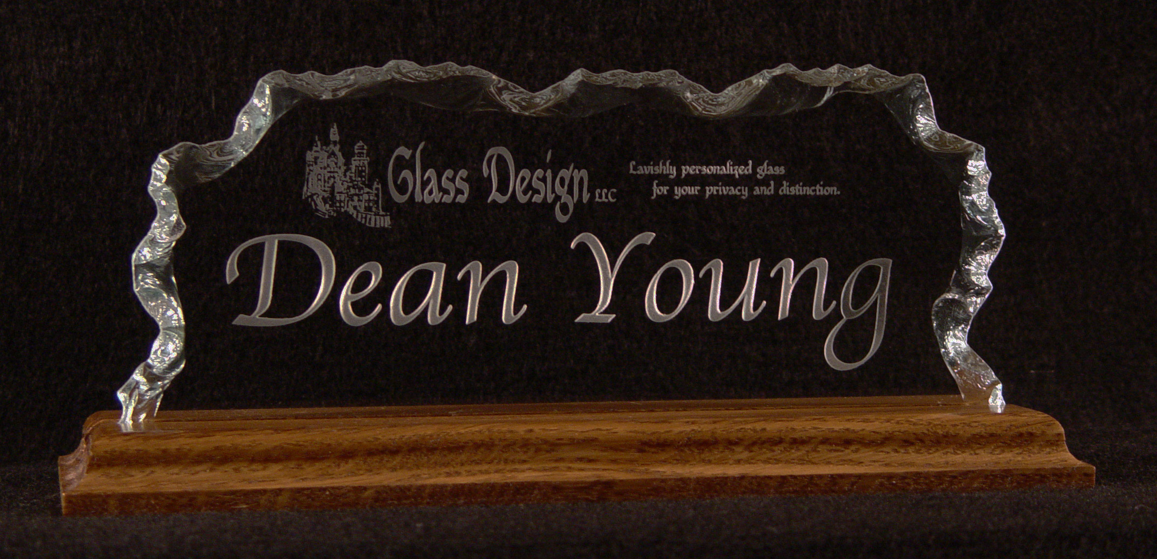 Glass Etched Name Plates