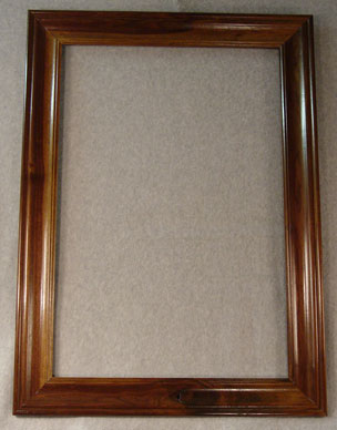 Walnut rectangle frame