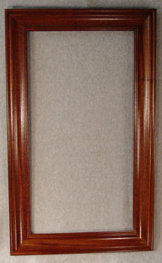 Mahogony rectangle frame