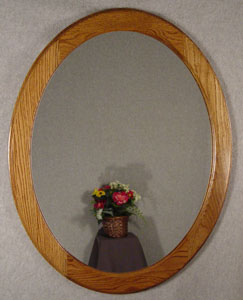 Oak oval frame